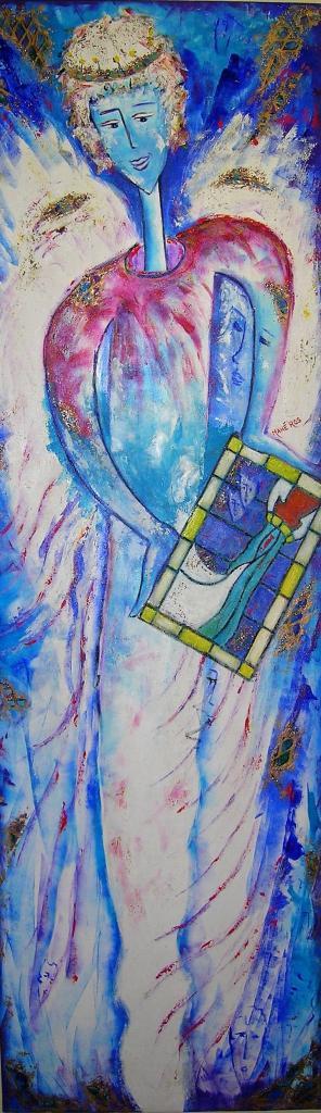 L'ange au vitrail (200x60) Prix sur demande