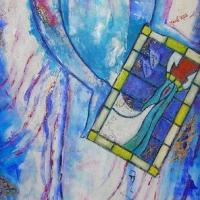 L'ange au vitrail (200x60)  Prix : me consulter