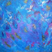 Prières bleues (116x89)  Prix : me consulter