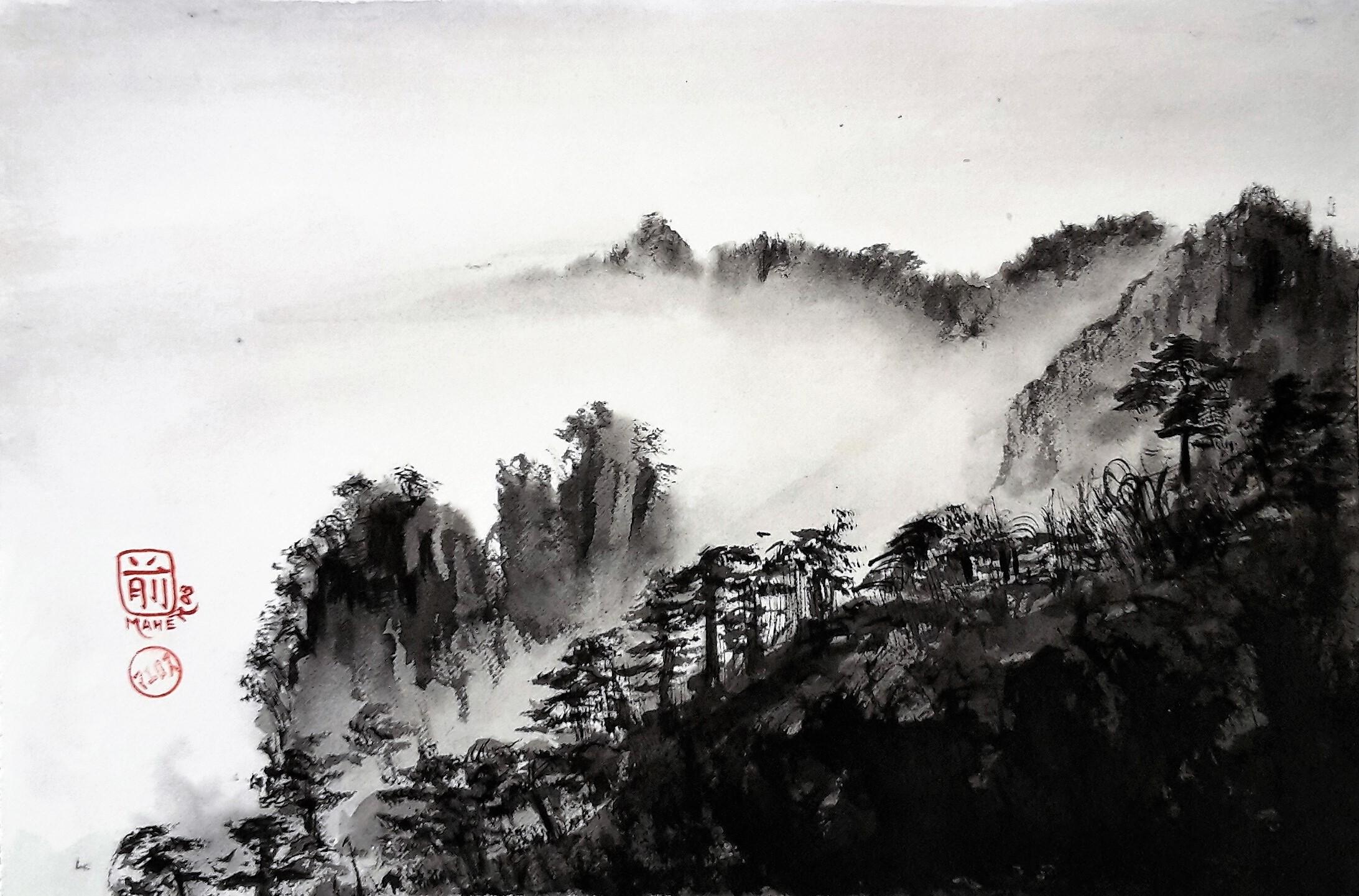 brume sur les cimes