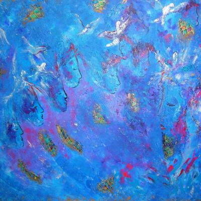 Prières bleues -116X89