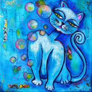 Le Chat aux bulles - 20x20