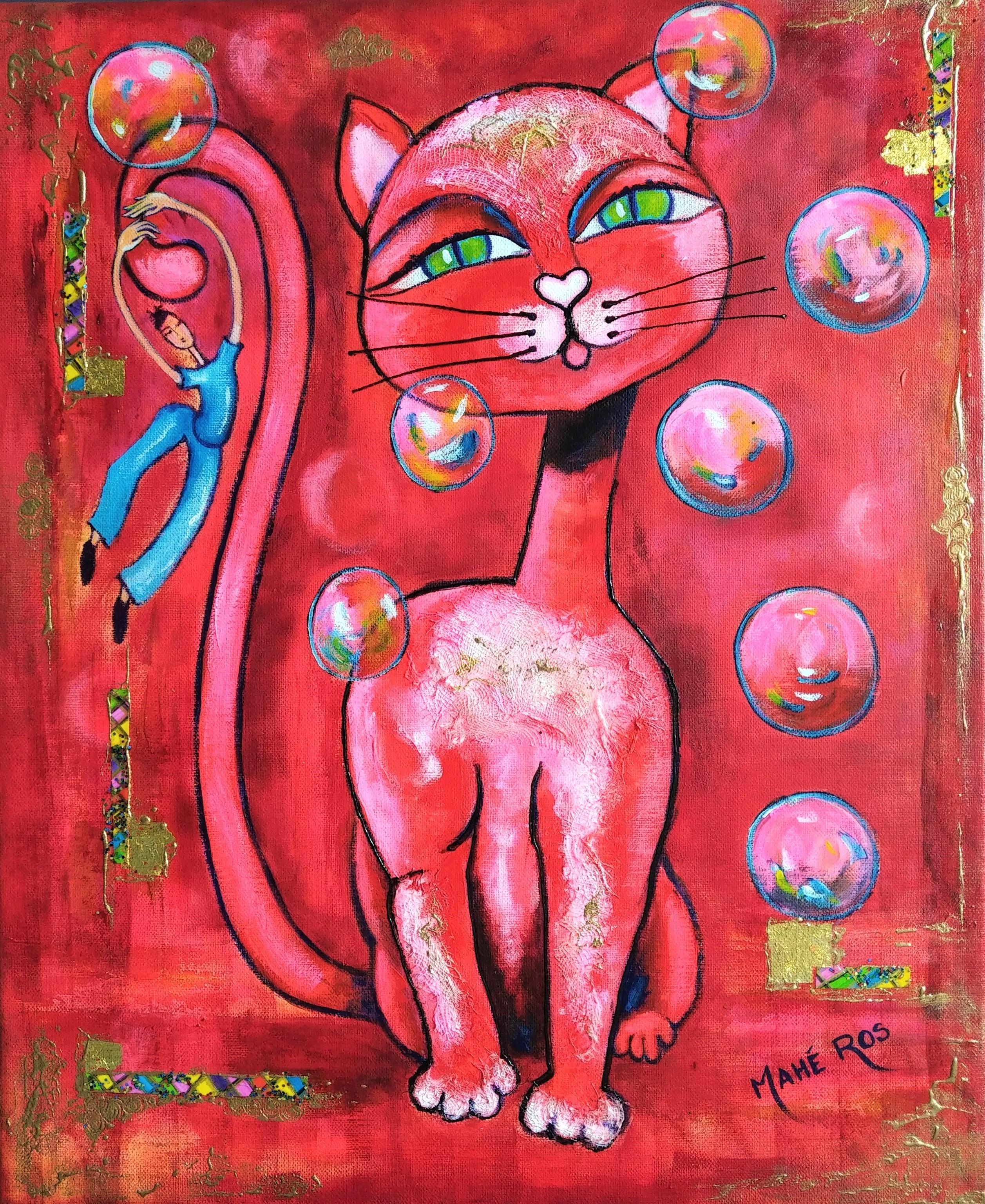 Red cat - 46x38