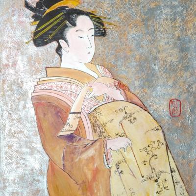 La célèbre OIRAN -Estampe sur papier 60x50 - Vendue