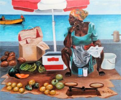 Antillaise au marché
