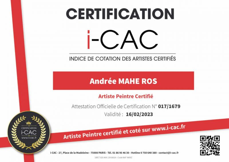 Certification icac mahe ros andree 3