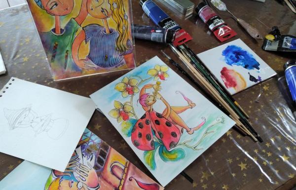 Atelier Mahé Ros Dessin et peinture