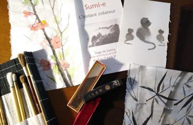 atelier Mahé ros Sumi-e
