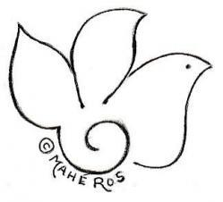 Logo oiseau mahe ros
